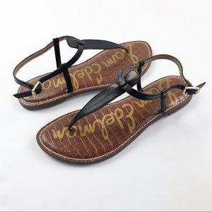 Sam Edelman Gigi Sandals Black Leather Size 7